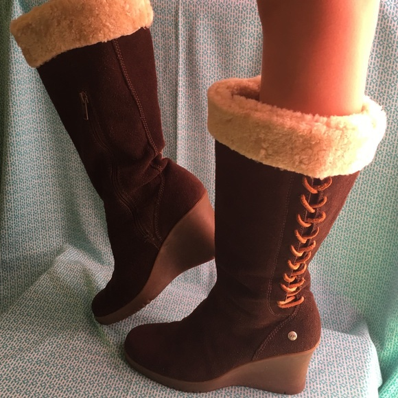 a4382e0c483 🌟UGG Australia-Knee High Wedge Heel Boots🌟